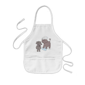 "kid apron ""funny elephants"" cartoon"