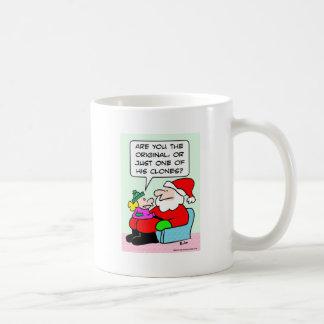 Kid asks if Santa is a clone. Coffee Mug