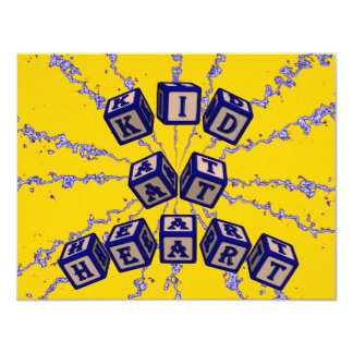 Kid at Heart toy blocks in blue Card