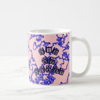 Kid at Heart toy blocks in blue Coffee Mug