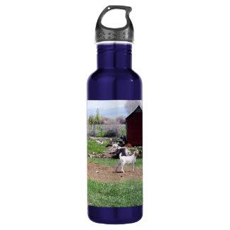 Kid at Red Hut Pasture 24oz Water Bottle
