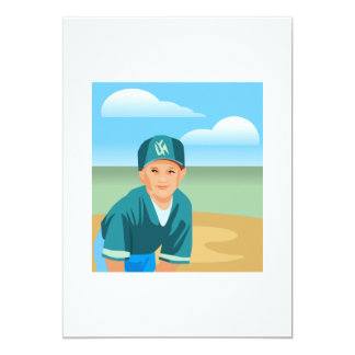 Kid Baseball Card
