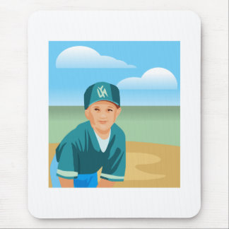 Kid Baseball Mouse Pad