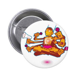 Kid Beyond Robot Button