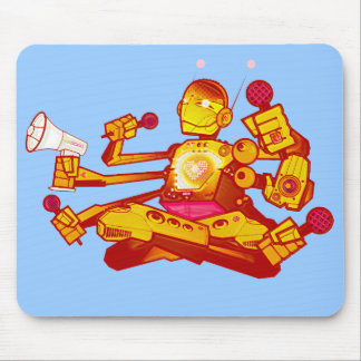 kid beyond Robot mousepad