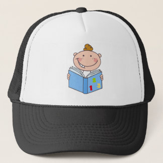 Kid Boy Reading A Book Trucker Hat