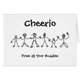 Kid Chain Cheerio Greeting Card