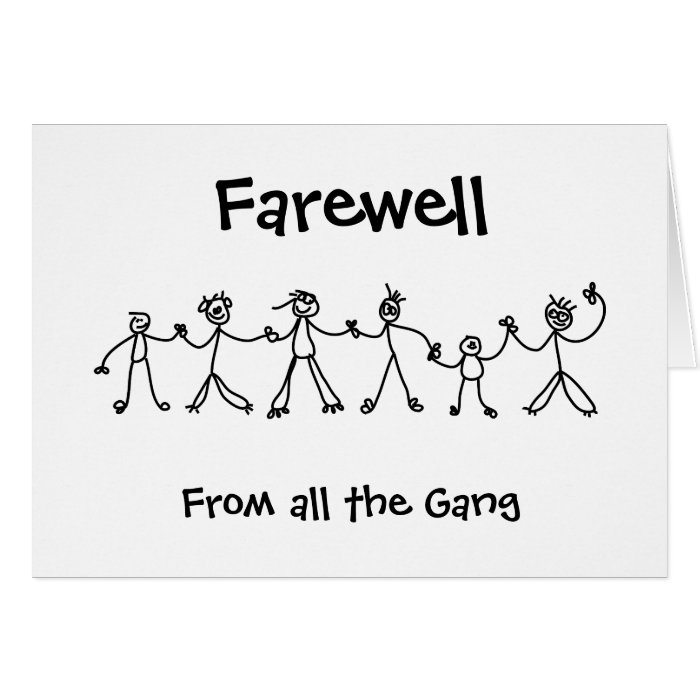 Kid Chain Farewell Card