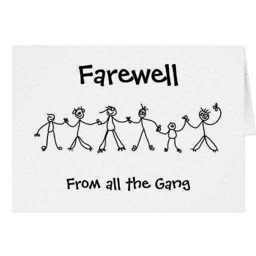 Kid Chain Farewell Greeting Card