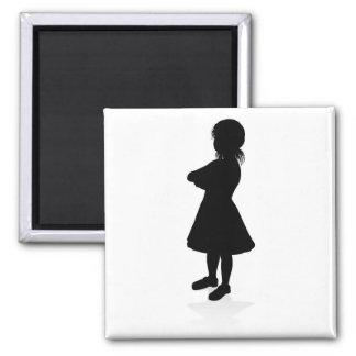 Kid Child Silhouette Magnet