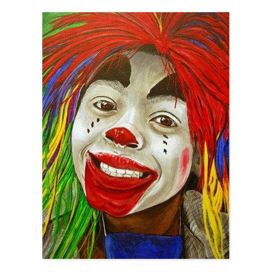 Kid Clown Painting Postcard