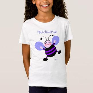 Kid Dancer Cute Happy Cartoon Bumble Bee Dancing T-Shirt