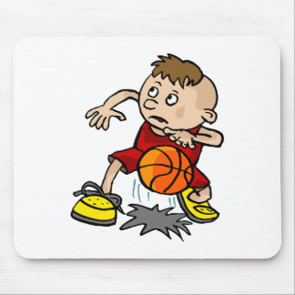 kid dribbling ball mouse pad