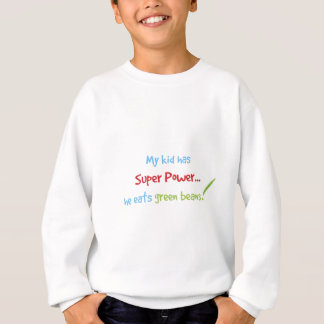Kid eats green beans sweatshirt