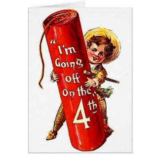 Kid Firecracker Joke July 4th Vintage Postcard Art Cards