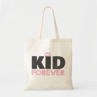 Kid forever tote bag