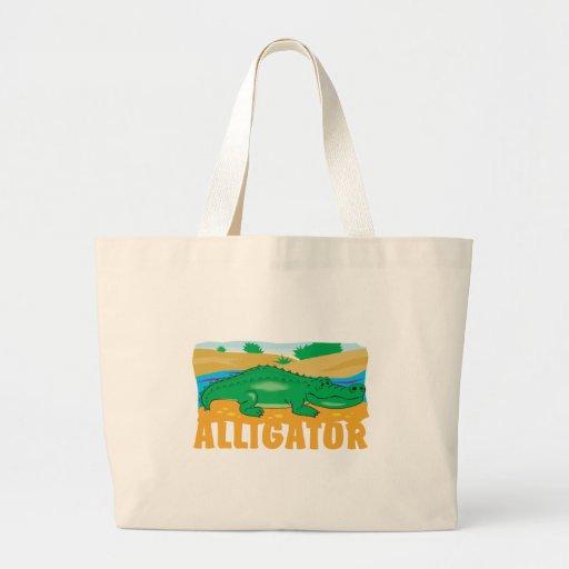 Kid Friendly Alligator Canvas Bag