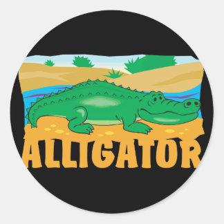Kid Friendly Alligator Classic Round Sticker