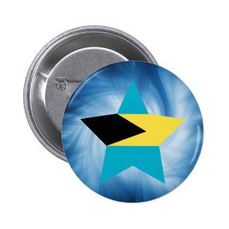 Kid Friendly Bahamas Flag Star 2 Inch Round Button