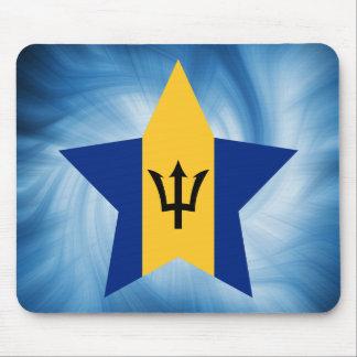 Kid Friendly Barbados Flag Star Mouse Pad