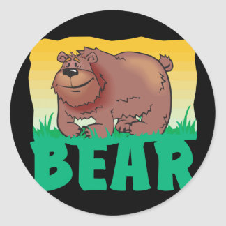 Kid Friendly Bear Classic Round Sticker
