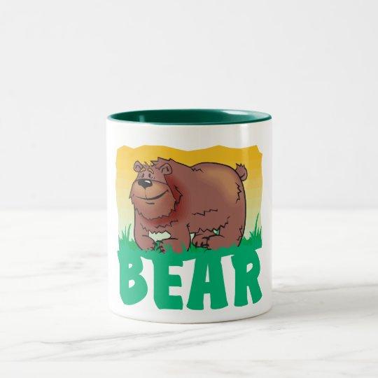 Kid Friendly Bear Two-Tone Coffee Mug
