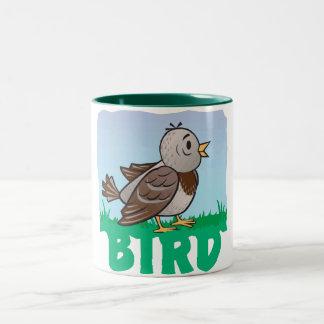 Kid Friendly Bird Two-Tone Coffee Mug
