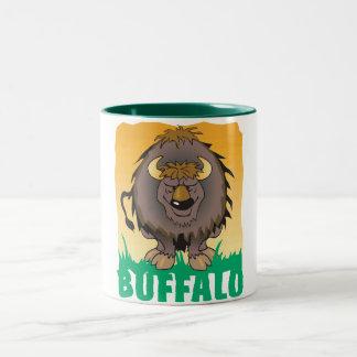 Kid Friendly Buffalo Two-Tone Coffee Mug