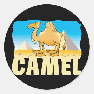 Kid Friendly Camel Classic Round Sticker