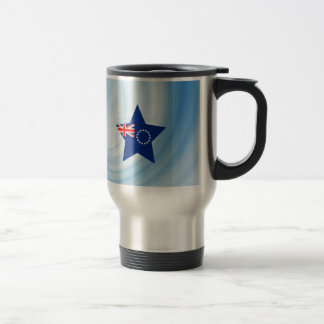 Kid Friendly Cook Islands Flag Star 15 Oz Stainless Steel Travel Mug