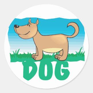 Kid Friendly Dog Classic Round Sticker