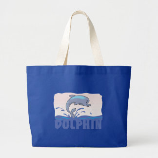 Kid Friendly Dolphin Large Tote Bag