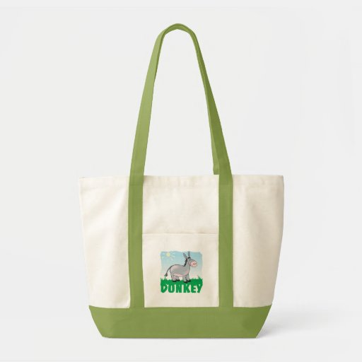 Kid Friendly Donkey Canvas Bags