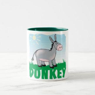 Kid Friendly Donkey Two-Tone Coffee Mug