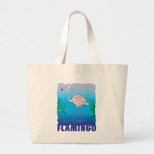 Kid Friendly Flamingo Tote Bag