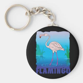 Kid Friendly Flamingo Keychain