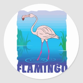 Kid Friendly Flamingo Classic Round Sticker