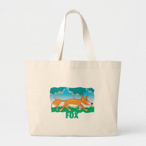 Kid Friendly Fox Tote Bags