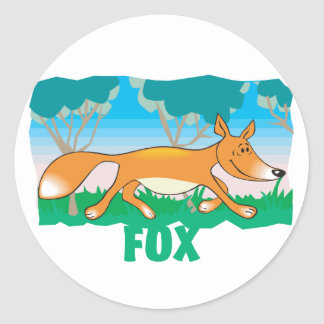 Kid Friendly Fox Classic Round Sticker