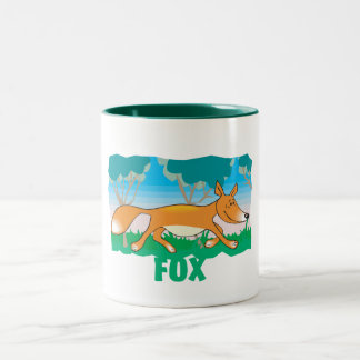 Kid Friendly Fox Two-Tone Coffee Mug