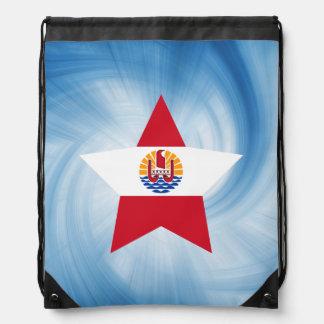 Kid Friendly French Polynesia Flag Star Backpacks