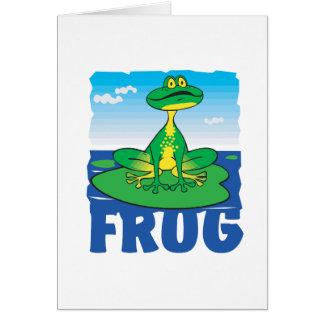 Kid Friendly Frog Card