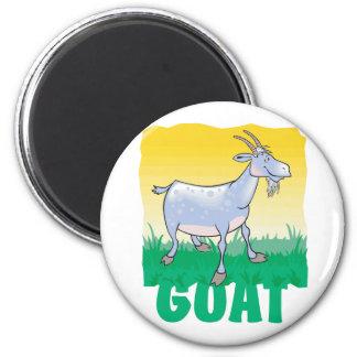 Kid Friendly Goat 2 Inch Round Magnet