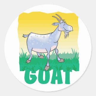 Kid Friendly Goat Classic Round Sticker