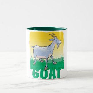 Kid Friendly Goat Two-Tone Coffee Mug