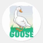 Kid Friendly Goose Classic Round Sticker