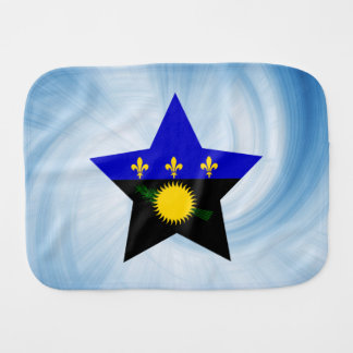 Kid Friendly Guadeloupe Flag Star Burp Cloth