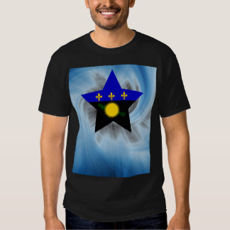 Kid Friendly Guadeloupe Flag Star Tees