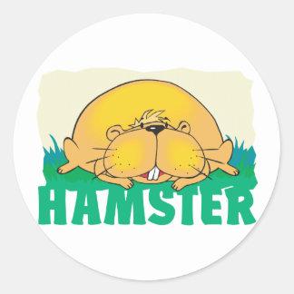 Kid Friendly Hamster Classic Round Sticker