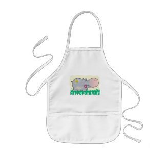 Kid Friendly Hippopotamus Kids' Apron